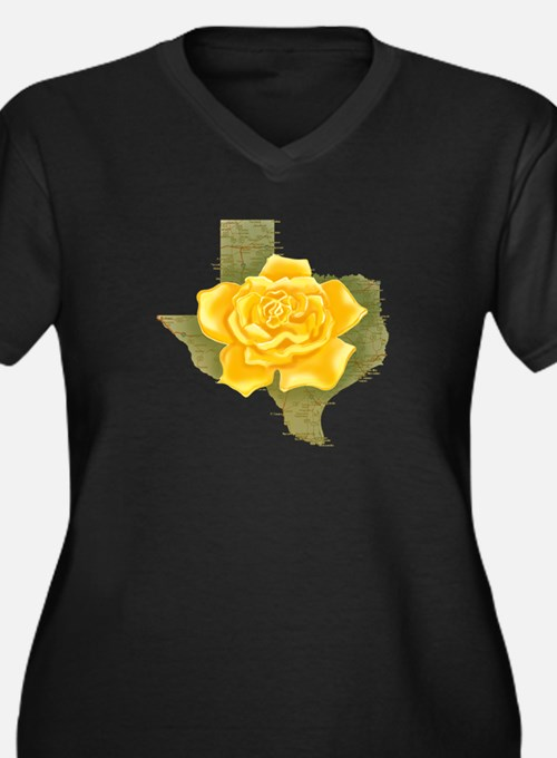Yellow Rose of Texas Women's Plus Size V-Neck Dark