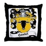 Handel Family Crest Throw Pillow