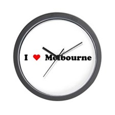 I love Melbourne Wall Clock