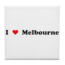 I love Melbourne Tile Coaster