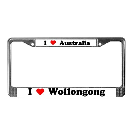I love Wollongong License Plate Frame