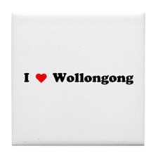 I love Wollongong Tile Coaster