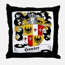 Hauser Family Crest Throw Pillow