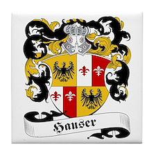 Hauser Family Crest Tile Coaster