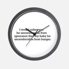 Hunger over Ignorance Wall Clock