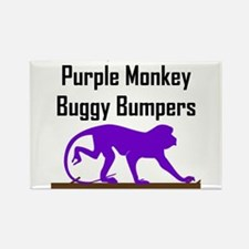 Purple Monkey Buggy Bumpers Rectangle Magnet (100