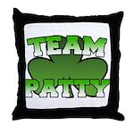 Team Patty Throw Pillow