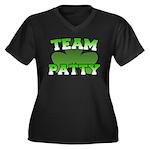 Team Patty Women's Plus Size V-Neck Dark T-Shirt