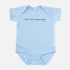 Real Men Change Nappies Infant Bodysuit