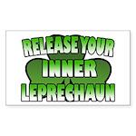 Release You Inner Leprechaun Rectangle Sticker