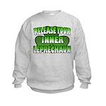Release You Inner Leprechaun Kids Sweatshirt