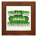 Release You Inner Leprechaun Framed Tile