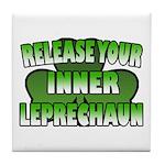 Release You Inner Leprechaun Tile Coaster