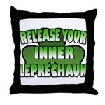 Release You Inner Leprechaun Throw Pillow