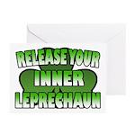 Release You Inner Leprechaun Greeting Cards (Pk of