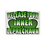 Release You Inner Leprechaun Rectangle Magnet (10