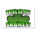 Bring on the Snakes Rectangle Sticker