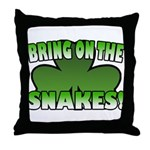 Bring on the Snakes Throw Pillow