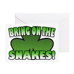 Bring on the Snakes Greeting Cards (Pk of 10)