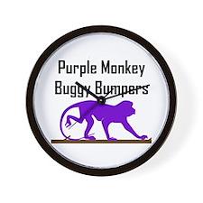 Purple Monkey Buggy Bumpers Wall Clock