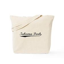 Vintage Takoma Park (Black) Tote Bag