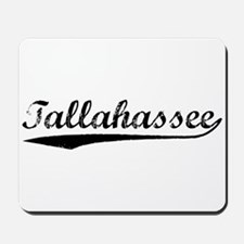 Vintage Tallahassee (Black) Mousepad