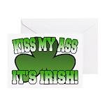 Kiss My Ass It's Irish Greeting Cards (Pk of 10)