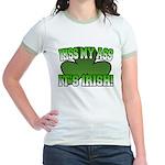 Kiss My Ass It's Irish Jr. Ringer T-Shirt