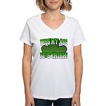 Kiss My Ass It's Irish Women's V-Neck T-Shirt