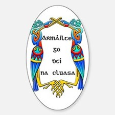 ARMED TO THE TEETH_IRISH_ Oval Decal