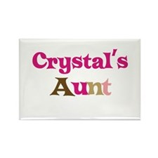 Crystal's Aunt Rectangle Magnet