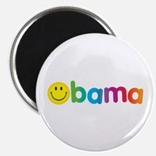 """Obama Smiley Face Rainbow 2.25"""" Magnet (100 pack)"""