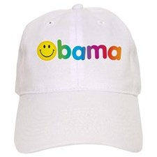 Obama Smiley Face Rainbow Baseball Cap
