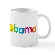 Obama Smiley Face Rainbow Mug