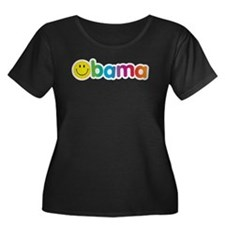 Obama Smiley Face Rainbow T