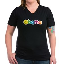 Obama Smiley Face Rainbow Shirt