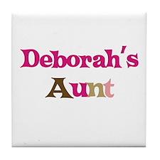 Deborah's Aunt Tile Coaster