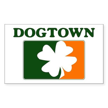 Dogtown Irish (orange) Rectangle Sticker