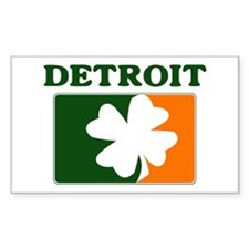 Detroit Irish (orange) Rectangle Decal