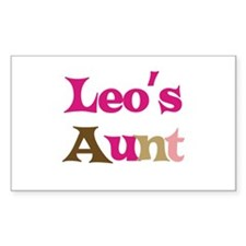 Leo's Aunt Rectangle Decal