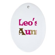 Leo's Aunt Oval Ornament