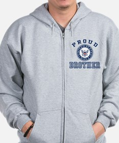 Proud US Navy Brother Zip Hoodie