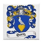 Hertz Family Crest Tile Coaster