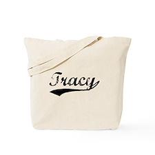 Vintage Tracy (Black) Tote Bag