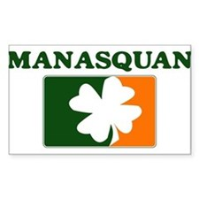 Manasquan Irish (orange) Rectangle Decal