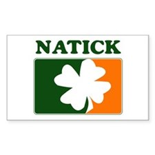 Natick Irish (orange) Rectangle Decal