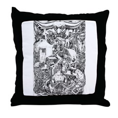 REVELATIONS BY TORRES Throw Pillow