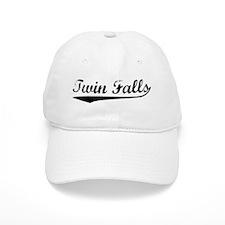 Vintage Twin Falls (Black) Baseball Cap