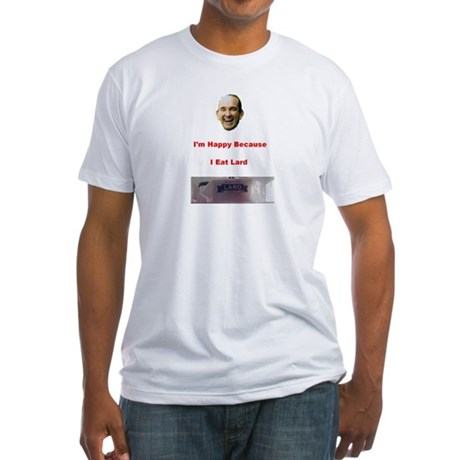 The Joy of Lard Fitted T-Shirt