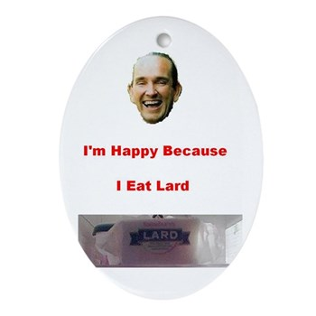The Joy of Lard Oval Ornament